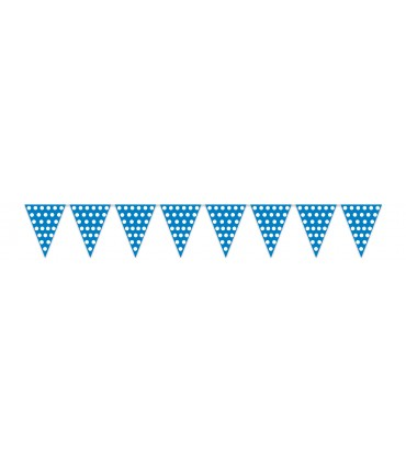 Gallardete Azul puntos blancos