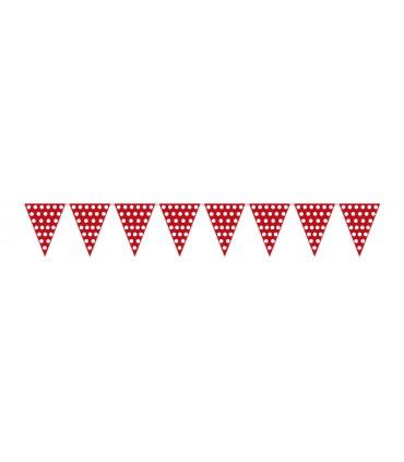 Gallardete Rojo con puntos Blancos