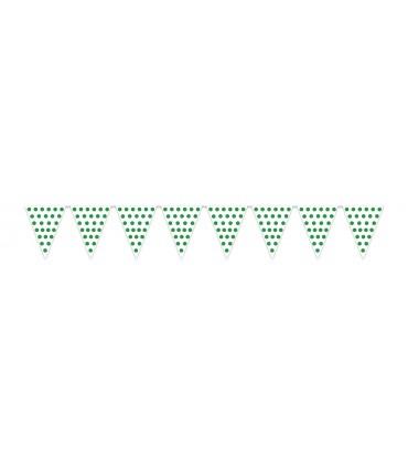Gallardete Blanco puntos verdes