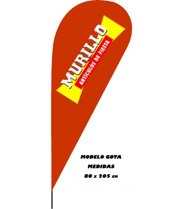 Bandera modelo Gota