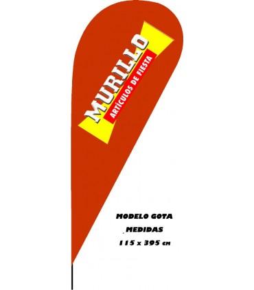 Bandera publicitaria modelo gota