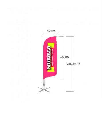 Bandera publicitaria modelo Vela