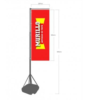 Bandera publicitaria modelo base