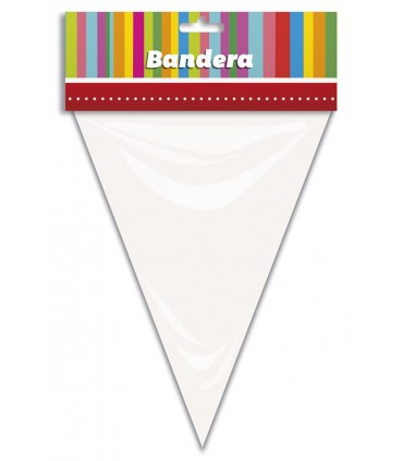 Bandera Triangular Blanca