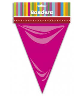 Bandera Triangular Rosa