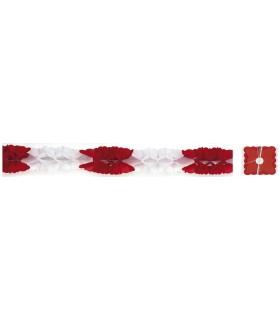 Guirnalda de Papel Roja y Blanca