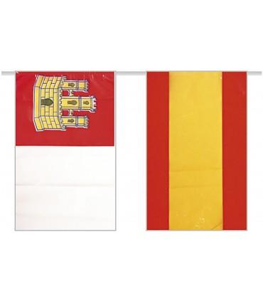 Bandera de plástico España con Castilla La mancha
