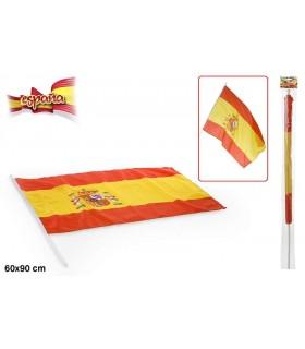 Bandera de España con palo